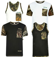 Men's Jungle Print Shorts T-shirts Muscle Vests Camouflage Fishing Hunting Top