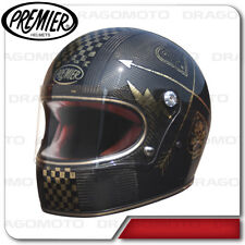 Casco Trophy Carbono Nx Oro Chromed Premier Integral Cafe racer