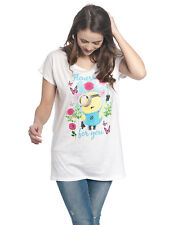 Minions Minions Flowers Girl Loose Shirt white