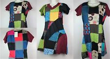 HANDMADE PATCHWORK Cotton Boho Dress Maxi Batik Festival Retro Vintage Hippy FT1