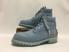 "Timberland Carolina Blue Boots Premium 6"" Inch WP Juniors TB0A1HEH NEW"