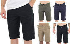 Men's Fashion Summer Men's Slim Fit Casual Cotton Shorts Solid Chino Short