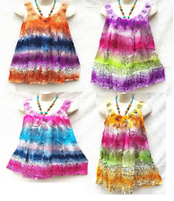"""ITS BOHO"" Batik 5pc lot Tie dye Hand Embroidered Rayon Sleeveless Top summer"
