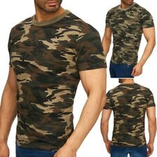 Hommes T-shirt col rond tee-shirt chemise extensible Regular Fit impression Supe