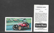 Type Cards: Lyons Maid: FAMOUS CARS. VG++