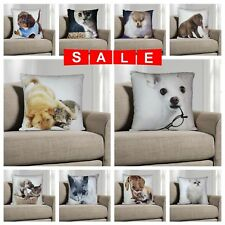 "New Digital Printed 3D Animal Themed Square Cushion Covers & Filled 18"" x 18"""