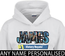 Fortnite Inspired Hoodie Kids Boys Gamer Personalised Any Name Xbox Playstation