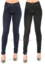 Skinny Jean Jeggings Stretchy Womens Ladies Coloured New Fit Trousers Sizes 8-14