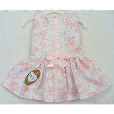 GIRLS PRETTY SPANISH STYLE PINK FLORAL PRINT SATIN BOW PARTY OCCASION DRESS