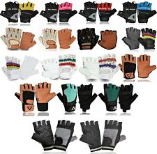 Unisex Half Finger Leather Fitness Gloves Gym Straps Sports Weight Lifting Glove