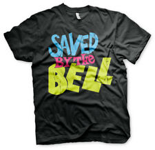 Officially Licensed Saved By The Bell Distressed Logo Men's T-Shirt S-XXL Sizes
