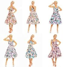 Retro Vintage Rockabilly Swing 1950 Fiesta Estampado De Mariposas Vestido