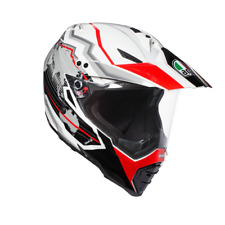 CASQUE AGV AX-8 DUAL EVO E2205 MULTI - EARTH BLANC/NOIR/ROUGE
