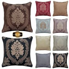 "New Jacquard Floral Flower Cushion Covers OR Filled 18"" x 18"" Free P&P Deals"