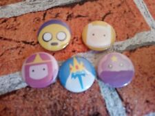 Adventure Time set of 5 pin badges - 25mm/1 inch pin badge. party bag filler