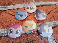 My Little Pony - set of 6 pin badges - 25mm/1 inch pin badge. party bag filler