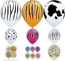 Qualatex 50.8x27.9cm Estampado Animal Globos látex apto para aire o helio