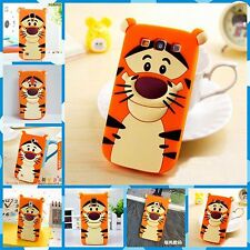 Housse De Couverture Coque silicium cartoon tiger bandes dessinées 3D