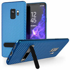 Premium Carbon Fibre Stand Protective Case Cover For Samsung Galaxy S9 & S9+