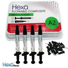 HEXA Flowable Composite Light Cure, Low Viscosity (4x 2g Syringe) All Shades FDA