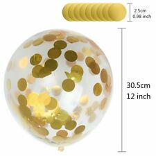 Gold Round Confetti Filled Balloon Helium Birthday Party Wedding Decoration