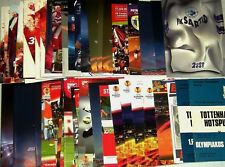 OFFICIAL PROGRAMMES ! EURO-CUPS ! 1972-2018 ! Huge lot, monthly update...