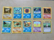 POKEMON TRADING CARD GAME CARTE SET FOSSIL UNLIMITED EDIZIONE ENG INGLES WIZARDS