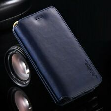 Luxury Genuine Leather Flip Zipper Wallet Phone Case Cover for Samsung phones