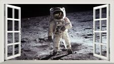 NASA Apollo 11 Moon Landing Space Astronaut 3D Magic Window Wall Art Sticker V1*