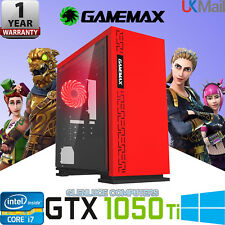 "Ultra Fast i7 Gaming Computer 16GB 2TB Desktop PC Windows 10 24"" Screen GTX 1050"