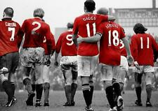 MANCHESTER UNITED Legends Best GIGGS SCHOLES Law CANTONA STAMPA POSTER A3 A4