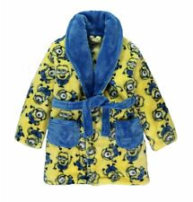 Boys Dressing Gown Despicable Me Minions Robe Soft Fleece New