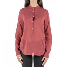 CAMICIA DONNA FORTE_FORTE BORDEAUX COTONE SETA MOD 5314_MY SHIRT MADE IN ITALY