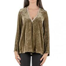 CAMICIA DONNA FORTE_FORTE VERDE CASACCA VELLUTO MOD 5244_MY TOP MADE IN ITALY