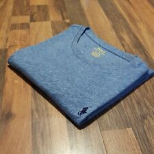 Ralph Lauren Custom Fit Marl Blue Crew Neck T-Shirt