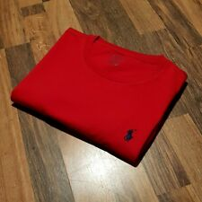 Ralph Lauren Custom Fit Red Crew Neck T-Shirt