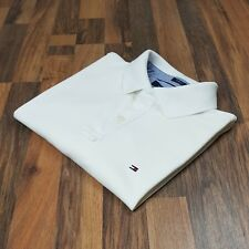 Tommy Hilfiger White Pique Custom Fit Polo Shirt