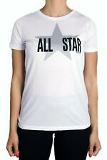 T-SHIRT CONVERSE SS CREW LOGO 10007386-A02 DONNA COTONE BIANCO