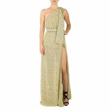 Abito Donna ELISABETTA FRANCHI. Long Dress EF Monospalla stampa losanga. Colore