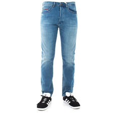 Jeans Uomo TOMMY HILFIGER cinque tasche in cotone. Denim TOMMY JEANS slim fit ef