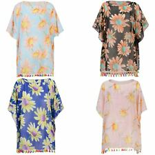 Women Summer Light Kaftan Colourful Fringe Beach Cover Up Ladies Sarong One Size