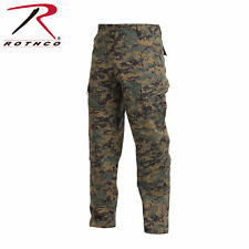 WOODLAND DIGITAL CAMO 5217 ROTHCO COMBAT UNIFORM PANTS POLY/COTTON RIP-STOP MEN