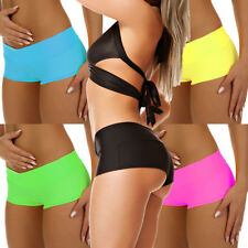 Stretch High Waist Hotpant Fitness Pant Poledance S M L Made in EU Neon