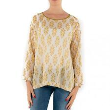 CAMICIA DONNA FORTE_FORTE BIANCA BEIGE TOP COTONE MADE IN ITALY MY_TOP 5084