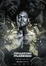 Conor McGregor V Floyd Mayweather Fight Póster Boxeo UFC Póster A4 A3