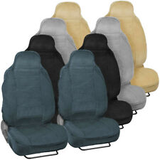Durable & Soft Front Car Seat Covers for High-Back Bucket Seats Auto SUV Vans