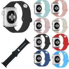 Sports Silicone Replacement Wrist Strap Band Bracelet for Apple Watch 38/42mm