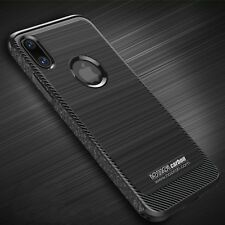 Cover Carbone Apple iPhone X Cas Silicone Antichoc Mode + verre trempé
