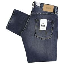 Edwin ED 55 Relaxed Tapered Jeans - Deep Blue Denim Savage Wash