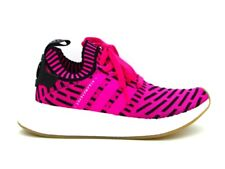 ADIDAS NMD_R2 PK SNEAKERS FUCSIA NERO BIANCO BY9697